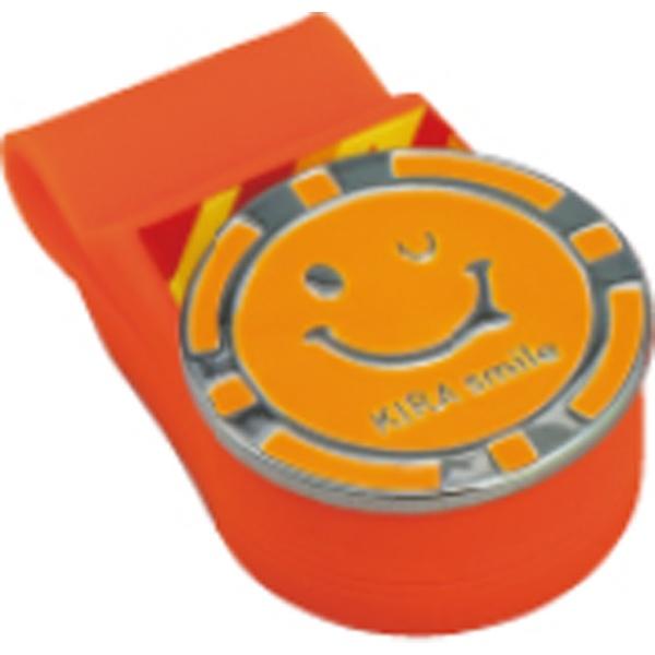 クリップマーカー KIRA Smileシリコンクリップ&マーカー(クリップ:幅24mm×長さ850mm/マーカー:直径26mm/オレンジ)KICM1817