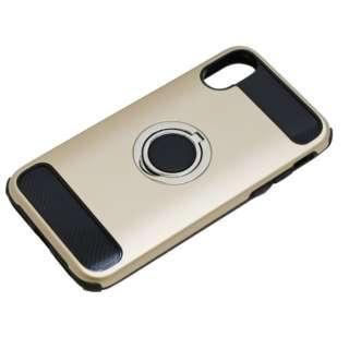 iPhoneX用 ジャケットリング付き 耐衝撃 BCJI1703GD ゴールド