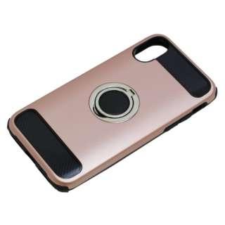 iPhoneX用 ジャケットリング付き 耐衝撃 BCJI1703PK ピンク