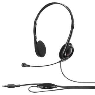 BSHSHCS100BK ヘッドセット ブラック [φ3.5mmミニプラグ /両耳 /ヘッドバンドタイプ]