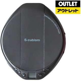 【アウトレット品】 ポータブルCDプレーヤー AC-P02BK ブラック 【生産完了品】