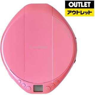 【アウトレット品】 ポータブルCDプレーヤー ピンク AC-P02PK 【生産完了品】