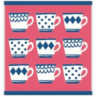ウォッシュタオル ティーカップパターン