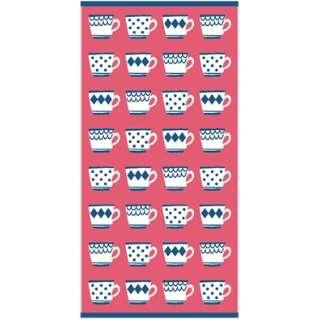 バスタオル ティーカップパターン