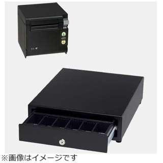 AirレジAセット(黒) レシートプリンター RP-D10-K27J2-B/キャッシュドロア DRW-A01-K