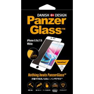iPhone 6/6s/7/8用 PanzerGlass(パンザグラス) White 衝撃吸収 全画面保護 ラウンドエッジ ダブル強化ガラス 4層構造