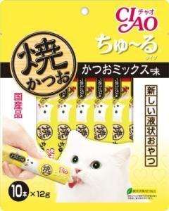 チャオ 焼かつお ちゅ〜るタイプ かつおミックス味 12gx10本