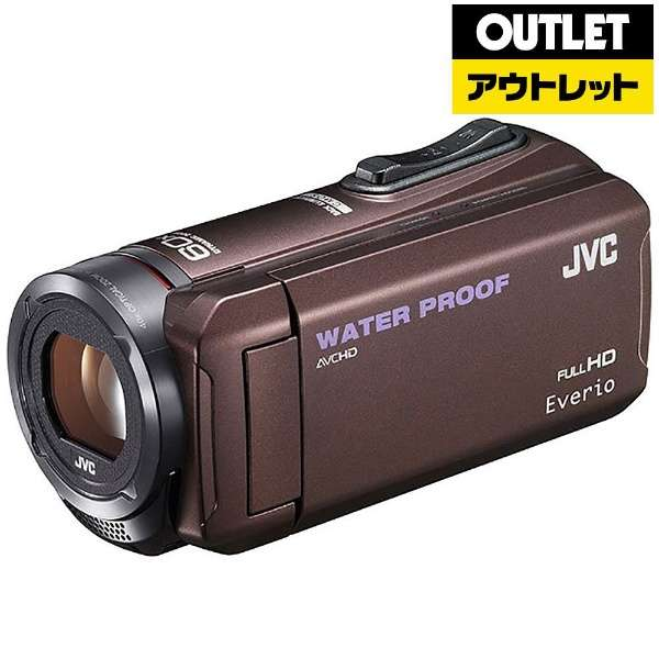 【アウトレット品】 ビデオカメラ Everio(エブリオ) [メモリ 32GB/フルハイビジョン] GZ-R300  ブラウン 【生産完了品】