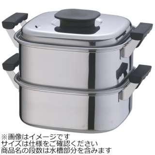 《IH対応》 桃印18-0角型蒸器 22cm 2段 <AMS69222>