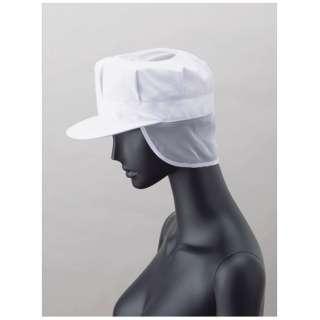 男性用八角帽子メッシュ付 US-2652 (ホワイト) L <SBU182>