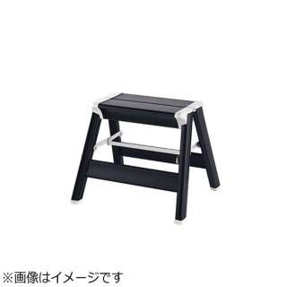 アルミ スキットステップ ブラック SK2.0-03BK 1段 <XST8301>
