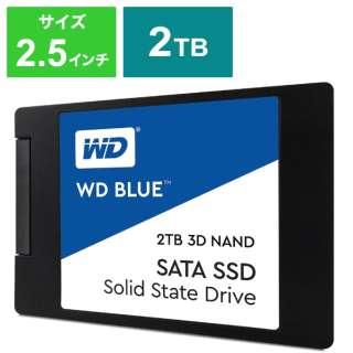 WDS200T2B0A 内蔵SSD WD BLUE 3D NAND SATA SSD [2TB /2.5インチ] 【バルク品】