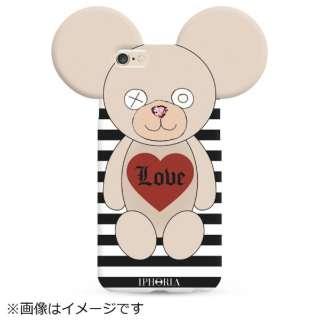 iPhone 8/7  TPU Teddy Love Stripes 14228 ブラック