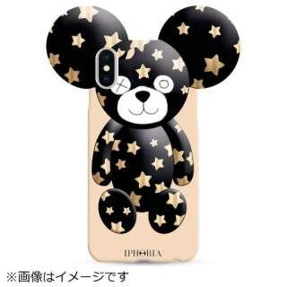 iPhone X TPUケース Teddy Golden Stars 14549 ゴールド