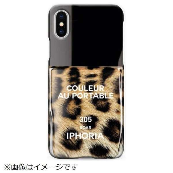 iPhone X TPUケース Nailpolish Roar 14835 ブラウン