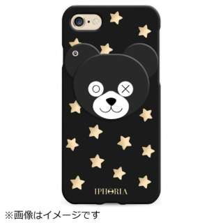 iPhone SE(第2世代)/7/8 対応 TPU Teddy With Stars 14944 ブラック