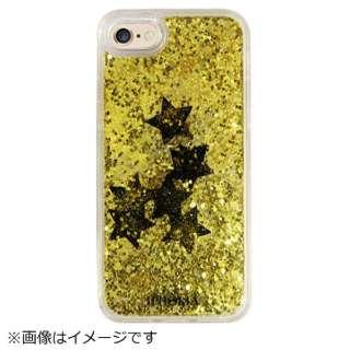 iPhone SE(第2世代)/7/8 対応 TPU Liquid Black Stars 14948 ゴールド