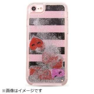 iPhone 8/7  TPU Liquid Hearts Stripes 14954 マルチカラー