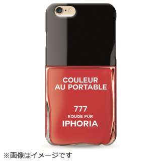 iPhone SE(第2世代)/7/8 対応 TPU Couleur Portable Vernis Rouge 82254 レッド