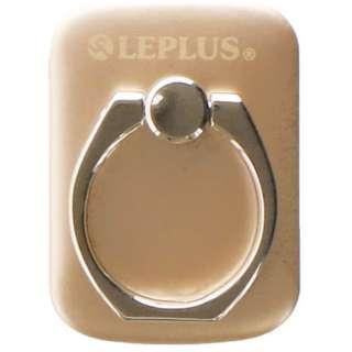 〔スマホリング〕 スマートフォン汎用 スマートフォンリング  Grip Ring/PALLET LEPLUS LP-SMRG04MGD メタルゴールド