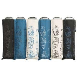 【折りたたみ傘】ユニセックス折傘 ポケフラット ルーヴル「青カバ」【色指定不可】 [55cm]