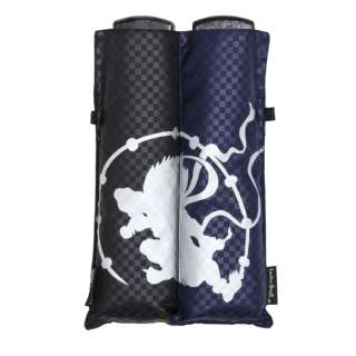 【折りたたみ傘】ユニセックス折傘 ポケフラット 酒井抱一「風神雷神図」【色指定不可】 [55cm]