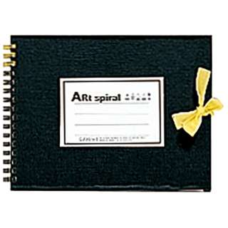 [スケッチブック]アートスパイラル F0 ブラック S310-05