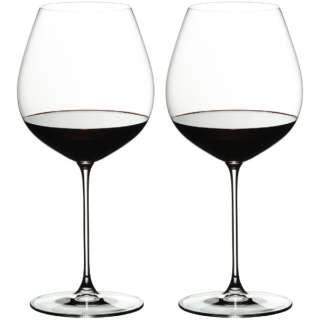 [正規品] リーデル ヴェリタス オールドワールド・ピノ・ノワール 2脚入り 6449/07【ワイングラス】 [705ml]