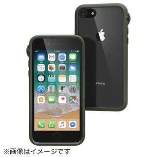 iPhone 8 衝撃吸収ケース アーミーグリーンブラック CT-IPIP174-AGBK