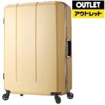 【アウトレット品】 軽量&大容量スーツケース 71L 6019-64 ミルキーベージュ 【数量限定品】