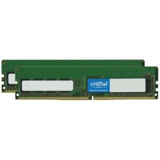 増設メモリ デスクトップ用 CFD Selection DDR4-2666 288pin DIMM 16GB×2枚組 W4U2666CM-16G [DIMM DDR4 /16GB /2枚]