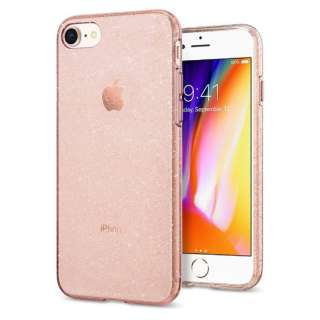 iPhone 8/7 Plus Liquid Crystal Glitter Rose Quartz
