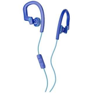 耳かけ型 S4CHY-K608 ロイヤルブルー [リモコン・マイク対応 /φ3.5mm ミニプラグ]