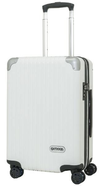 スーツケース ファスナーキャリー 40L(45L) ホワイトヘアーライン OD-0757-50-WHH