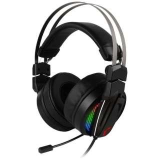 Immerse GH70 GAMING Headset ゲーミングヘッドセット ブラック [USB /両耳 /ヘッドバンドタイプ]