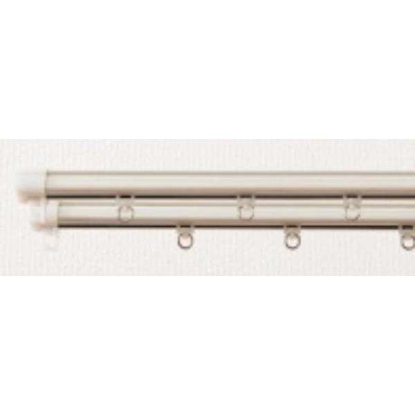 静音角型木目レール 3m用(160-300cm) シングル ホワイト