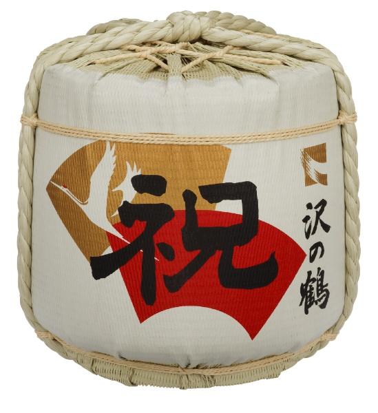 沢の鶴 純米 祝印 本荷 菰樽 72L型入 36L【日本酒・清酒】