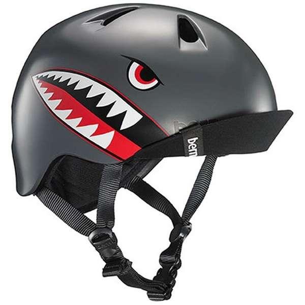 子供用ヘルメット NINO ALL SEASON (Satin Grey Flying Tiger/ XS-Sサイズ:48~51.5cm) BE-VJBSGFV-11