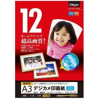 デジカメ印画紙 強光沢[A3サイズ /12枚] JPSK-A3-12G