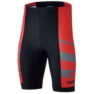 15553311b Cycle wear SHIMANO team shorts (red  M size) CW-PAGS-RS22M-D