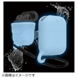 AirPods用防水ケース WaterProof Hang Case for AirPods elago ナイトルミナス(夜光色) EL_APDCSSCWH_NB