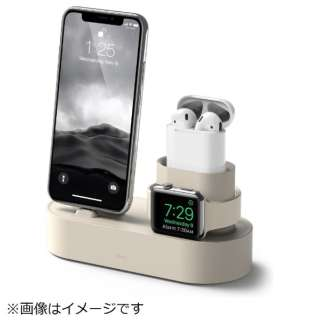 iPhone / AirPods / Apple Watch用充電スタンド Charging Hub for iPhone / AirPods / Apple Watch EL_IAASTSC3S_CW クラッシックホワイト