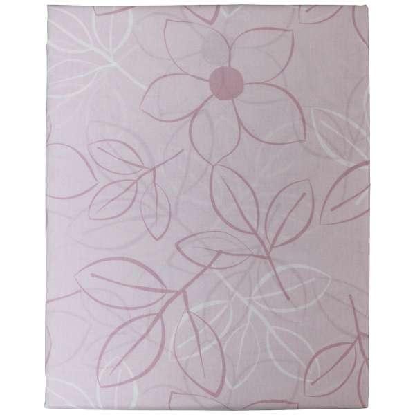 【ボックスシーツ】綿ローン リーフ シングルサイズ(綿100%/100×200×30cm/ピンク)【日本製】
