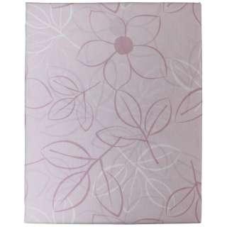 【ボックスシーツ】綿ローン リーフ ダブルサイズ(綿100%/140×200×30cm/ピンク)【日本製】