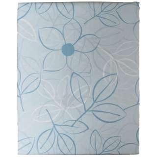 【ボックスシーツ】綿ローン リーフ ダブルサイズ(綿100%/140×200×30cm/ブルー)【日本製】