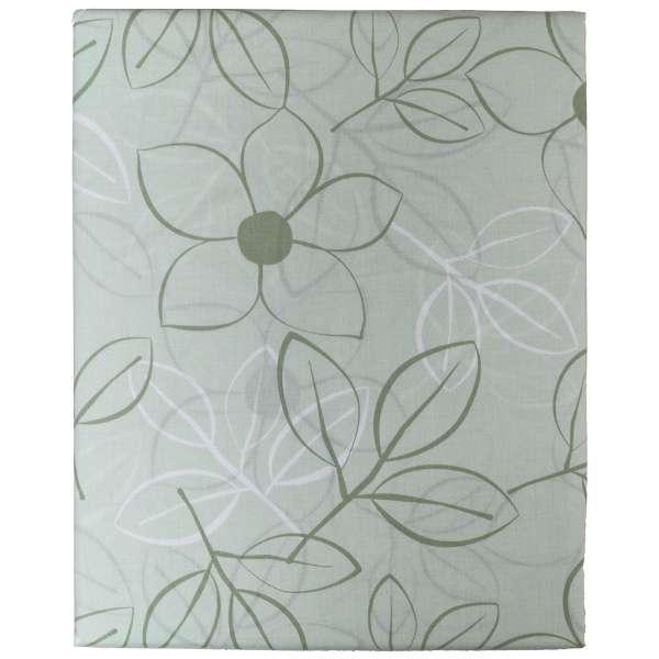 【ボックスシーツ】綿ローン リーフ ダブルサイズ(綿100%/140×200×30cm/グリーン)【日本製】