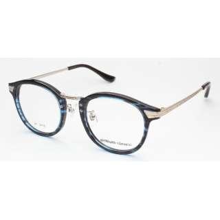 【度無しクリアレンズ】airNium-classic メガネセット(クリアブルーデミ)ac811-3[薄型/屈折率1.60/非球面/PCレンズ]