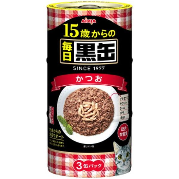 毎日黒缶3P 15歳からのかつお 480g(160gx3缶) 製品画像