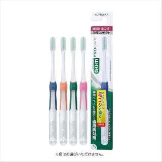 G・U・M(ガム) 歯ブラシ 歯周プロケア デンタルブラシ #388 3列コンパクトヘッド ふつう