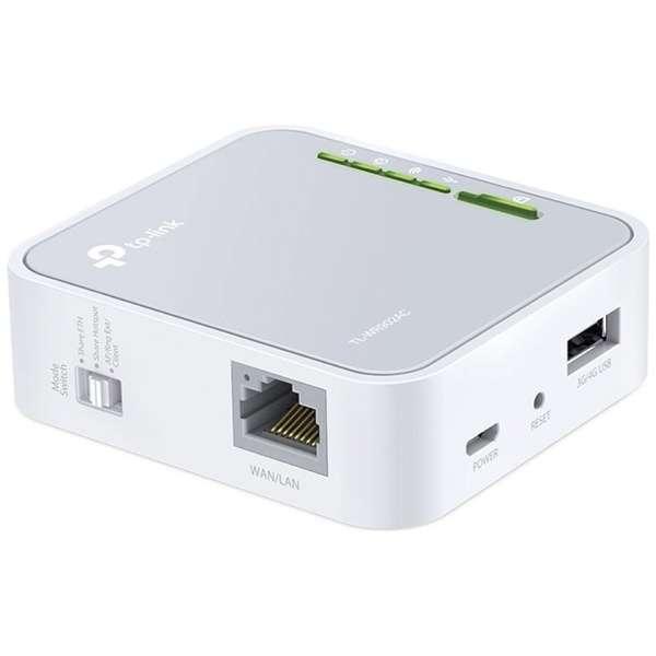 無線LANモバイルルータ AC750 ワイヤレス トラベルルーター TL-WR902AC ホワイト [400Mbps~ /ac/n/a/g/b]